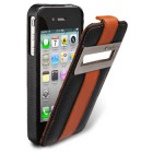 Чехол для iPhone 4/4S Melkco Leather Case Jacka ID Type Limited Edition (Black/Orange LC)